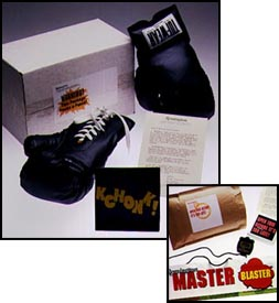 Dimensional mail packages for Master Blaster