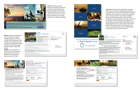 portfolio direct mail skywater spread