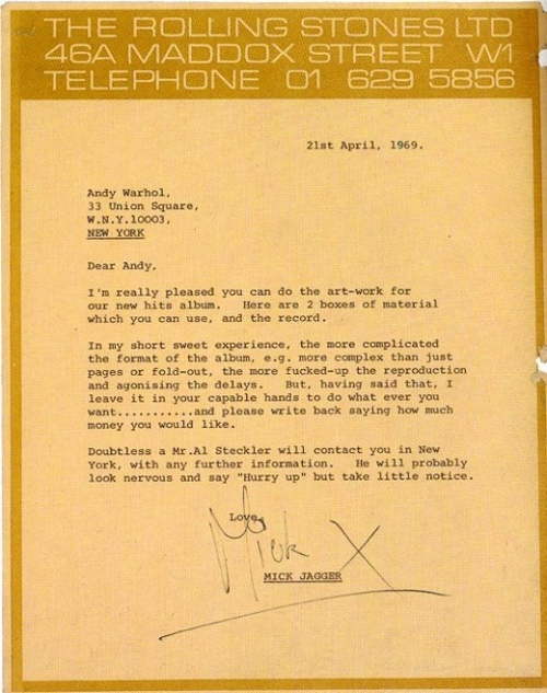 mick jagger creative brief sticky fingers andy warhol